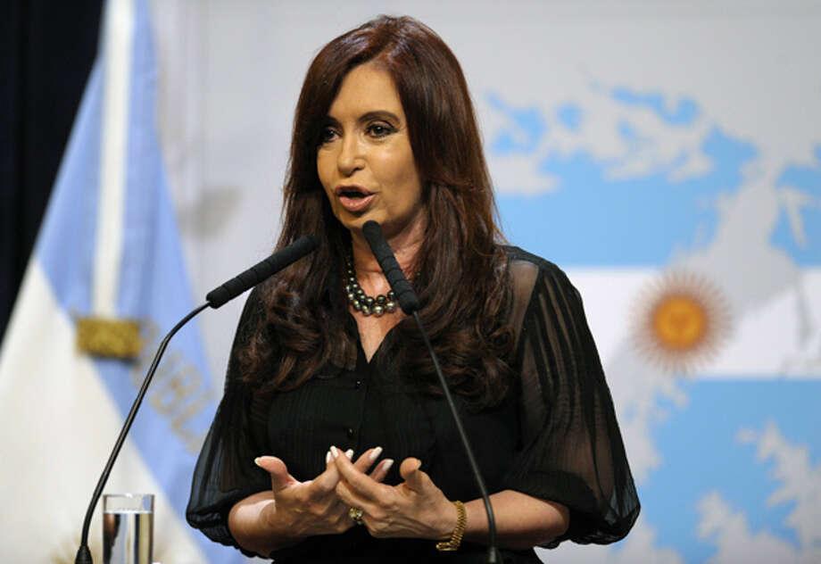 16. Argentine President Cristina Fernandez de Kirchner  Photo: JUAN MABROMATA, . / AFP