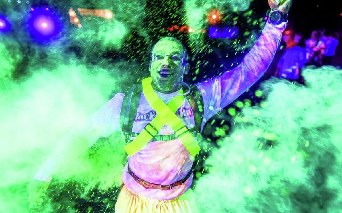 A Blacklight Run, which involves runners getting covered in neon power as the run through blacklight areas, is set for November 2015 at Six Flags Fiesta Texas.