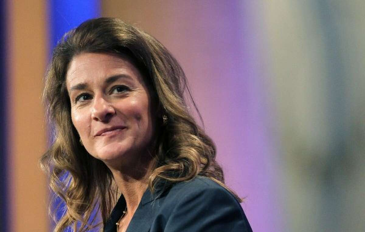 """Melinda Gates: The co-chair of the Bill & Melinda Gates Foundation could be found, in one week, """"hanging out"""" in a West African village and keeping company with Britain's Prime Minister David Cameron. Gates, a practicing Catholic, has made it the foundation's goal to bring contraceptive services to 120 million more women in the developing world by the year 2020. """"I believe absolutely in family planning: I am putting my reputation, my credibility on the line,"""" she told a Seattle awards gathering after returning from Europe. The goals of Melinda Gates are bold; the words of Melinda Gates are memorable. (Mario Tama / Getty Images)"""