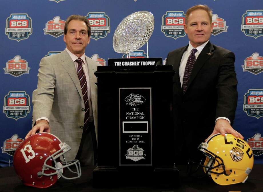 Voters and computers thought enough of Alabama coach Nick Saban's team that it got a rematch with Les Miles (right) and LSU in the BCS title game despite not playing in the SEC title game.  David J. Phillip/Associated Press Photo: David J. Phillip, Associated Press / AP
