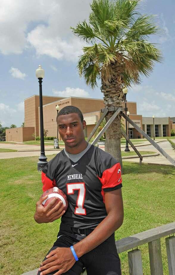 Port Arthur Memorial High School football quarterback Ricky Fisk.  Dave Ryan/The Enterprise