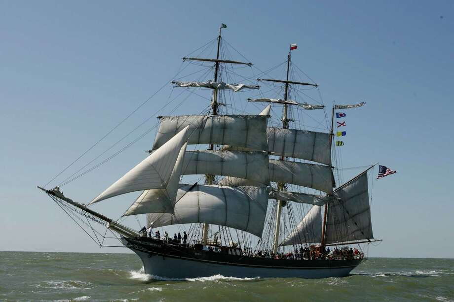 The Galveston Historical Foundation's restored 1877 Tall Ship Elissa sails along the Texas coast in the Gulf of Mexico outside the Galveston jetties on the last of her Spring 2008 Photo: Robert Stanton / Houston Chronicle