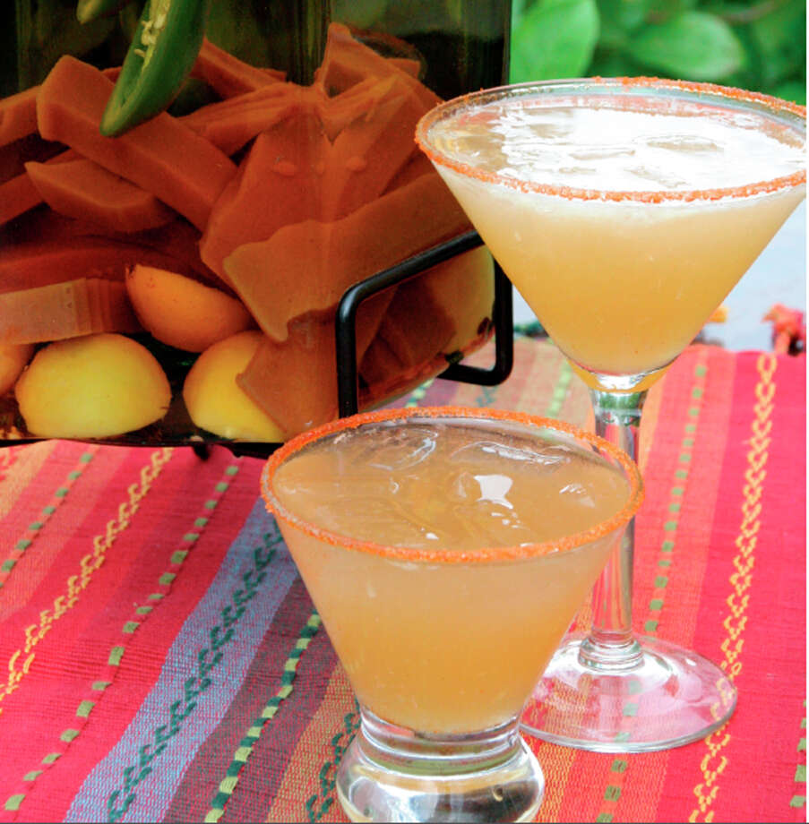 Martini Azteca from cookbook by Blanca Aldado at Aldaco's Stone Oak. Courtesy photo Photo: John Brasseaux, Courtesy Photo
