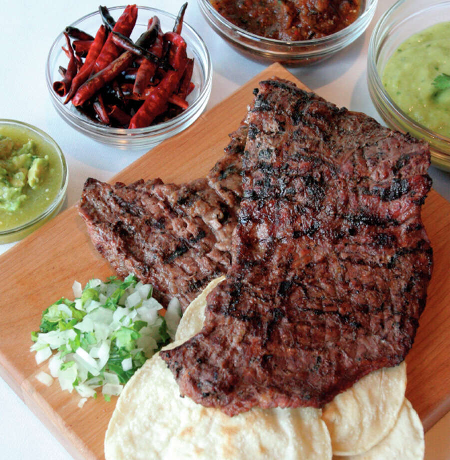 Arrachera a la Brava from cookbook by Blanca Aldado at Aldaco's Stone Oak. Courtesy photo Photo: Courtesy Photo