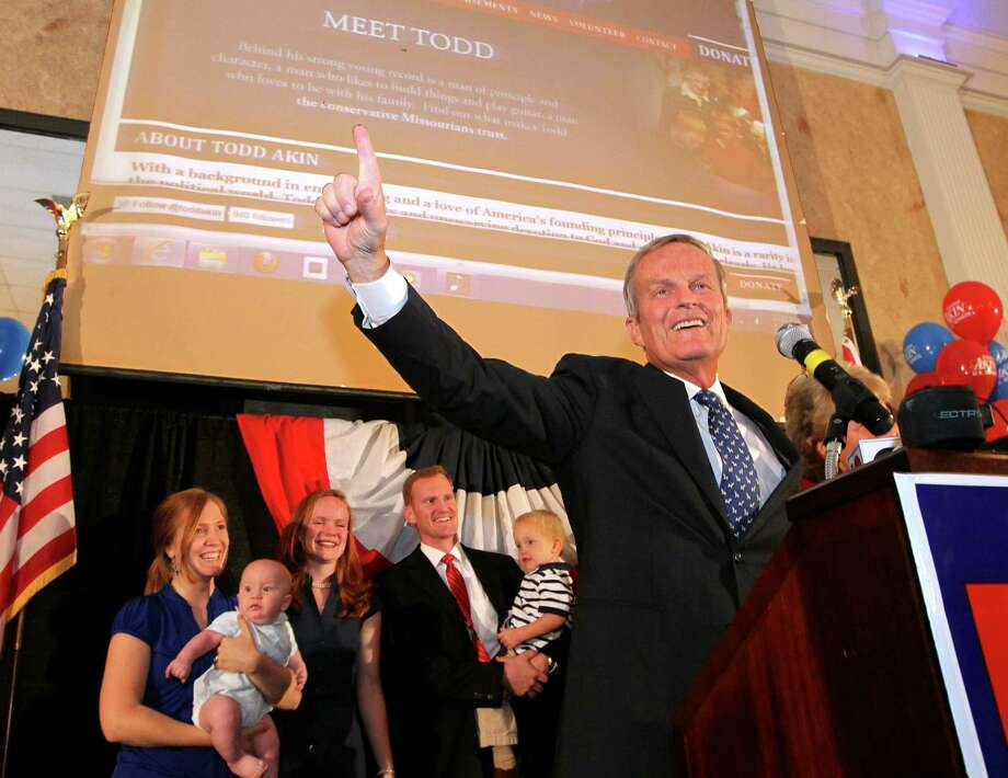 "Rep. Todd Akin, the GOP Senate candidate from Missouri, says he will remain in the race after admitting to a public speaking ""mistake."" Photo: Christian Gooden, Associated Press / St. Louis Post-Dispatch"