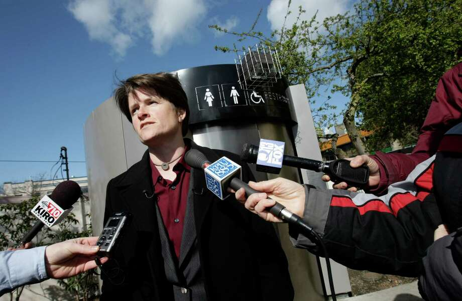The Seattle City Council, including Sally Clark (shown here), voted to remove the toilets by July 1, 2008. Lasting only four years, Seattle sold them on eBay for a fraction of the price they bought them for. Photo: ANDY ROGERS, Archive Photo / SEATTLE POST-INTELLIGENCER