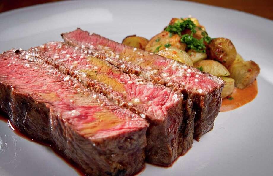 The Grilled Flat Iron Steak with Fingerling Potatoes at Glen Ellen Star in Glen Ellen, Calif., is seen on Friday, August 3rd, 2012. Photo: John Storey / ONLINE_Yes