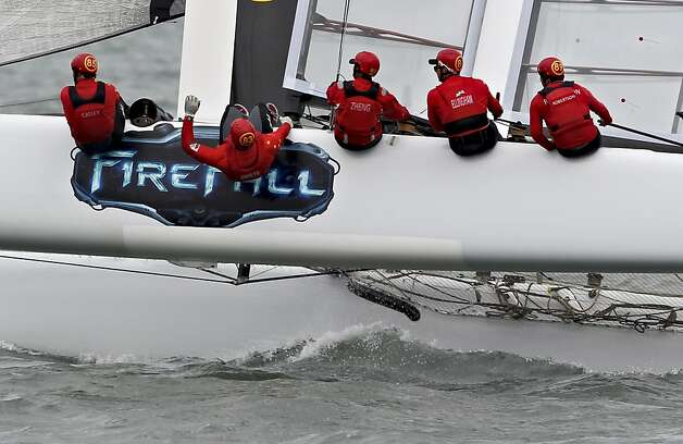 China Team competes during the America's Cup World Series on Wednesday, August 22, 2012 in San Francisco, Calif. Photo: Beck Diefenbach, Special To The Chronicle