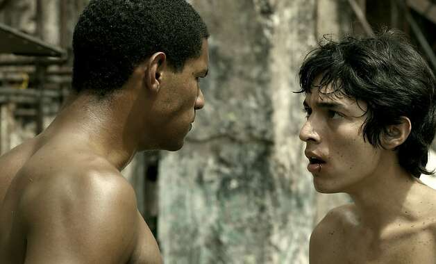 "Eliu Armas (left) and Fernando Moreno play brothers in a Venezuelan slum in ""Hermano."" Photo: Music Box Films"
