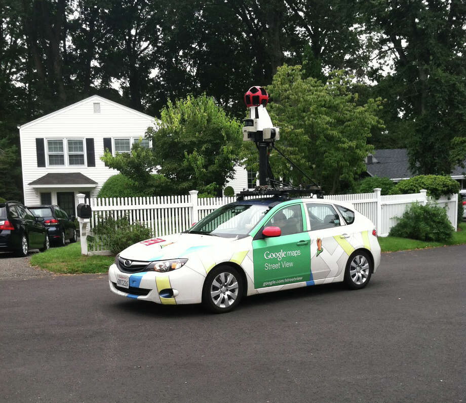 This Google Maps Street View Car was recently spotted on Silver Beech Road in Greenwich. Photo: Contributed Photo