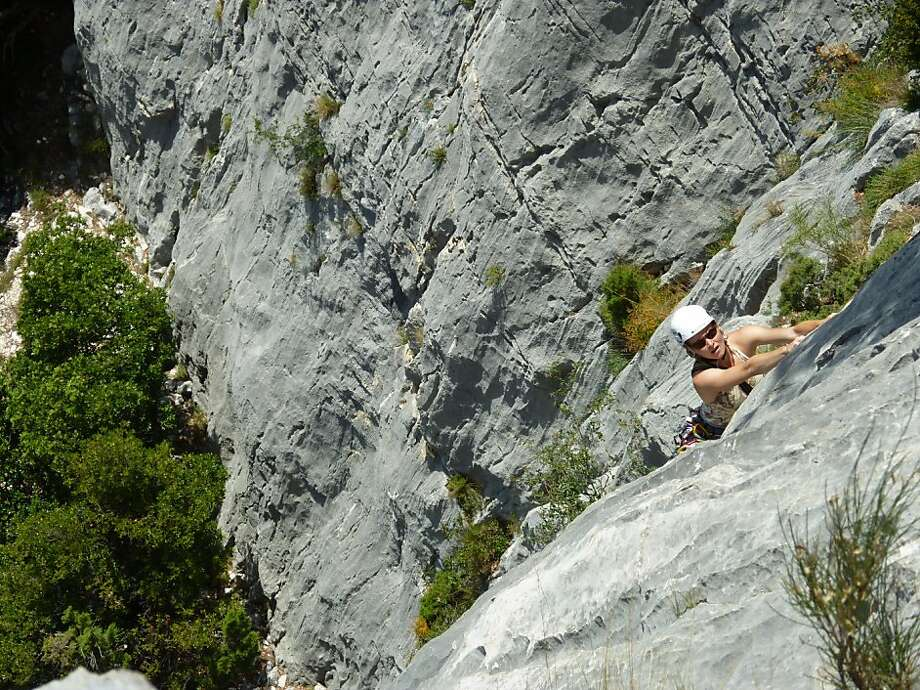 Verdon Gorge is a mecca for rock climbers and other thrill seekers, including bungee jumpers, whitewater kayakers and spelunkers. Photo: Bonnie Wach, Special To The Chronicle