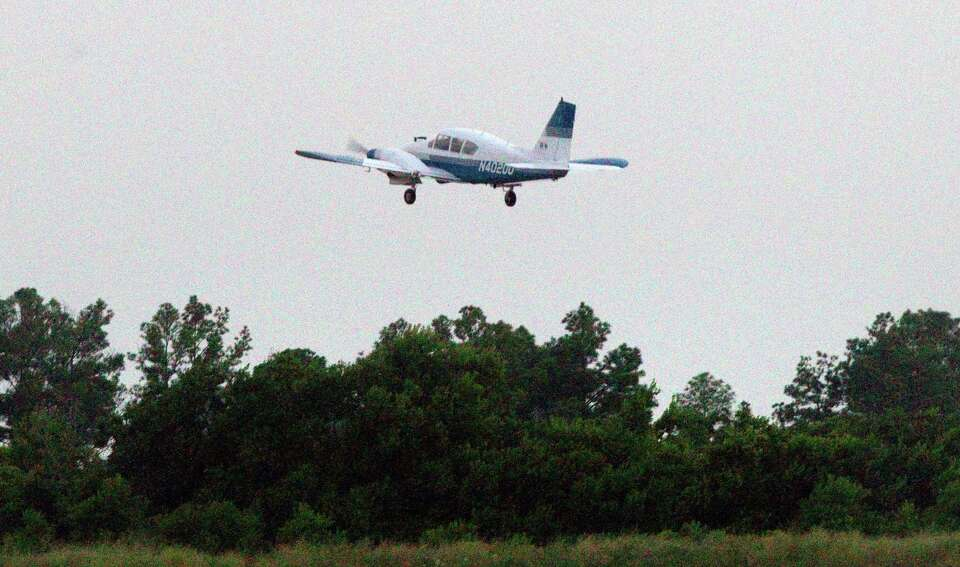 Chief Pilot for Vector Disease Control, Inc, Malcom Williams flies a plane loaded with DIBROM Concen