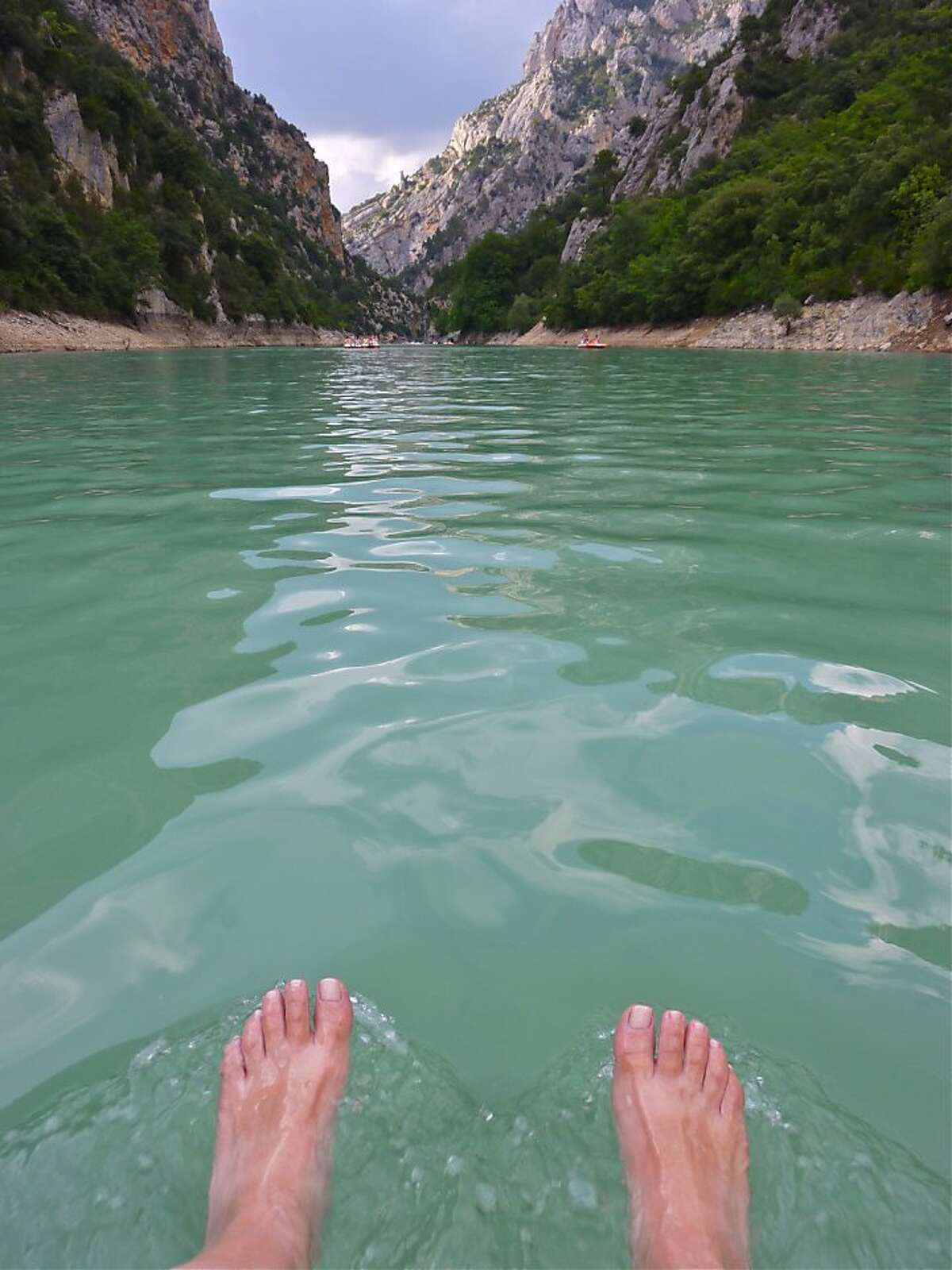 Pedalboating down the Verdon River