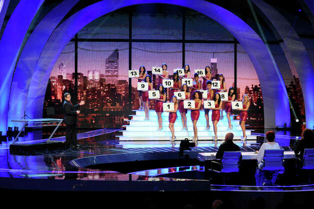 AMERICA'S GOT TALENT -- Episode 720 -- Pictured: (l-r) Eric Dittelman, female models -- (Photo by: Virginia Sherwood/NBC) Photo: NBC, Virginia Sherwood/NBC / 2012 NBCUniversal Media, LLC..