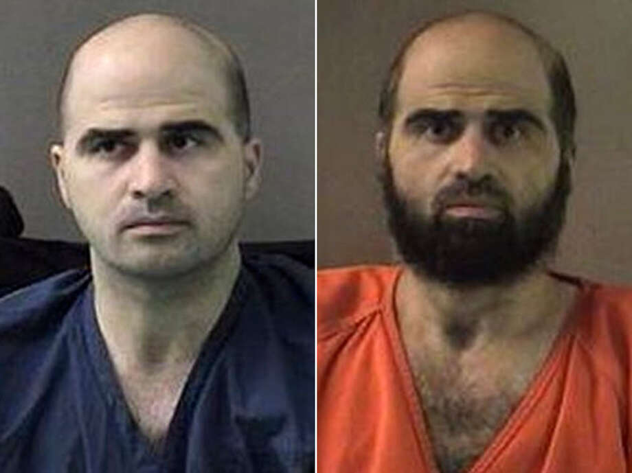 Formerly cleanshaven, Maj. Nidal Malik Hasan now sports a full beard, which he says is an expression of his Muslim faith. Photo: Associated Press File Photos