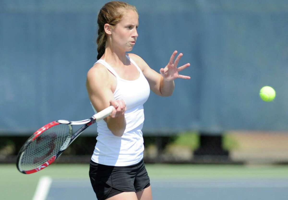 Kim Guerin of Weston High School shown earlier in her athletic career. She is the MVP of the 2013 Connecticut Post Girls Tennis team.