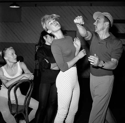 Gene Kelly in rehearsal on April 14, 1959 with Claude Bessy, prima ballerina of the Paris Opera Company. Photo: AP