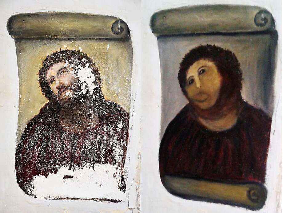 'Ecce' sketch:Noting the deterioration of the 20th-century, Ecce Homo-style