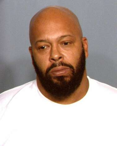 "In this handout photo provided by the Las Vegas Metropolitan Police Department, Marion ""Suge"" Knight is seen in a booking photo February 8, 2012 in Las Vegas, Nevada.  Knight was arrested for possession of Marijuana and traffic violations and was later released. (Las Vegas Metropolitan Police Department / Getty Images)"