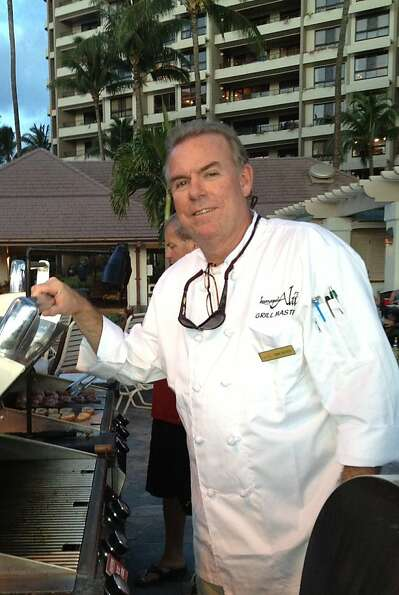 Kaanapali Alii chef Michael Barry is at the resort's beachfront gas barbecue grills from 5 to 9 p