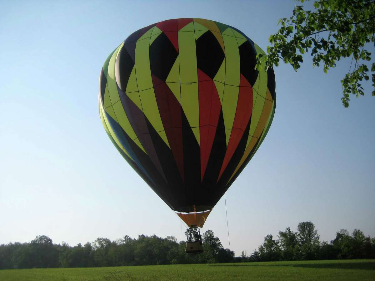Up, up and away at the end of summer. (Times Union)