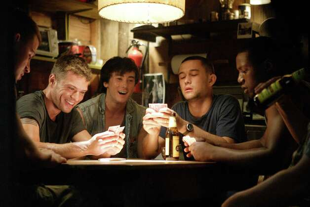 "Photo Credit: Frank Masi/Paramount Pictures (Left to right) Steve Shriver (Channing Tatum), Brandon King (Ryan Phillippe), Shorty (Alex Frost), Tommy Burgess (Joseph Gordon-Levitt) and Isaac Butler (Rob Brown) engage in some well-deserved r&r in ""Stop-Loss."" Photo: Photo Creedit: Frank Masi"
