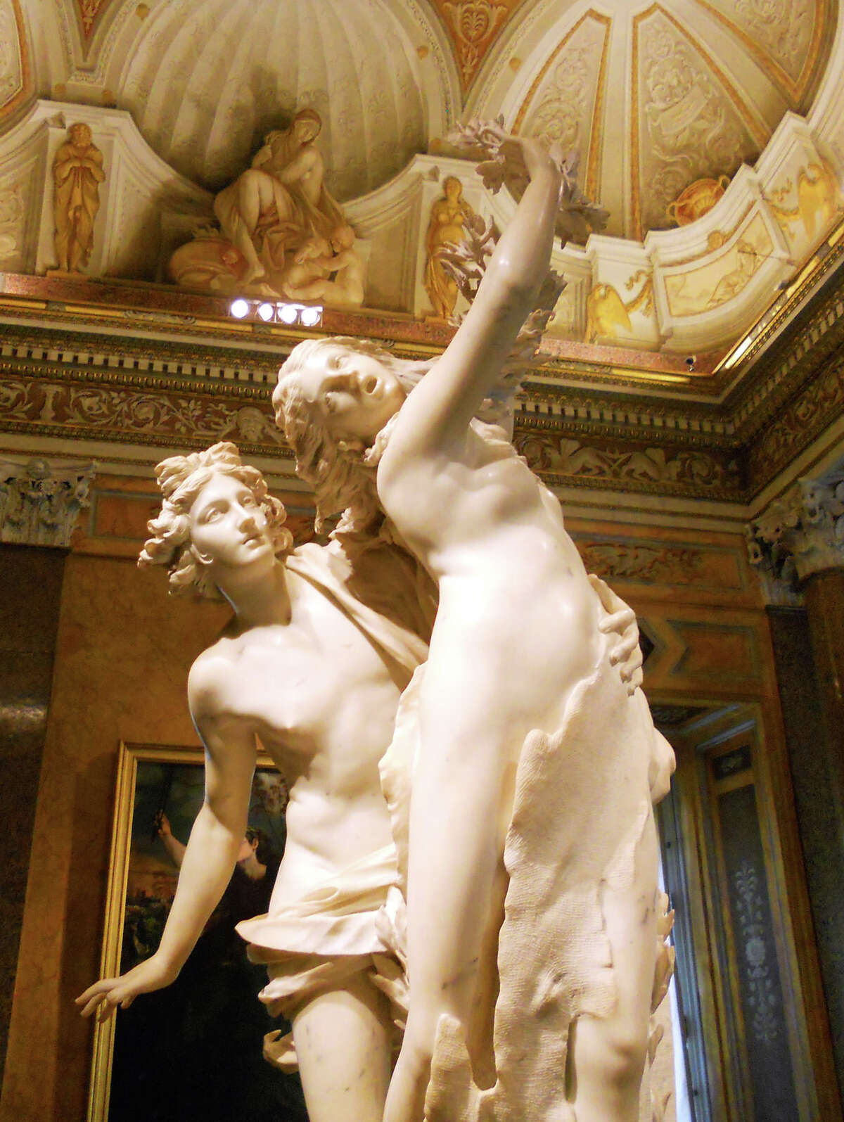 The Vatican doesn't have all the good art in Rome: Bernini's exquisite Apollo and Daphne belongs to the Borghese Gallery.