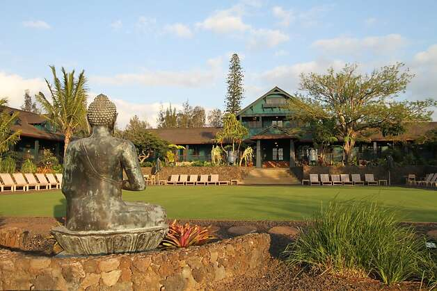 East meets West at the new Lumeria Maui retreat in Paia, which includes the beautifully restored 1909 Baldwin mansion and offers wellness programs including yoga and meditation. Photo: Lumeria Maui