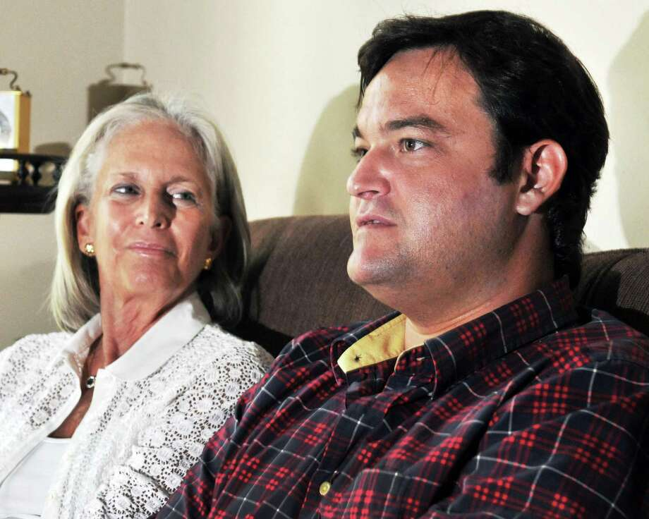 "Movie producer Jamie Patricof, at right, and his mother, Capital region native Susan Patricof on the set of ""The Place Beyond the Pines,"" in Schenectady Thursday Sept. 22, 2011.   (John Carl D'Annibale / Times Union) Photo: John Carl D'Annibale / 00014735A"