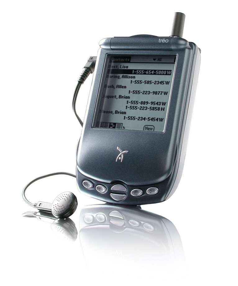 "Handspring's much-touted Treo 180 ""communicator"" at $399 was another attempt to merge a personal digital assistant with a mobile phone in 2002. Photo: HANDOUT, KRT / SAN JOSE MERCURY NEWS"