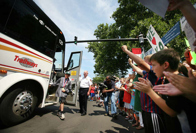 The Fairfield American Little League team is welcomed home from Williamsport, PA at the Sherman Green in downtown Fairfield on Thursday, August 23, 2012. Photo: Brian A. Pounds / Connecticut Post