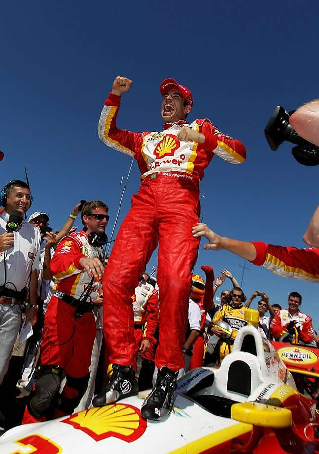Helio Castroneves has won twice this season, both on road courses. Photo: Nick Laham, Getty Images