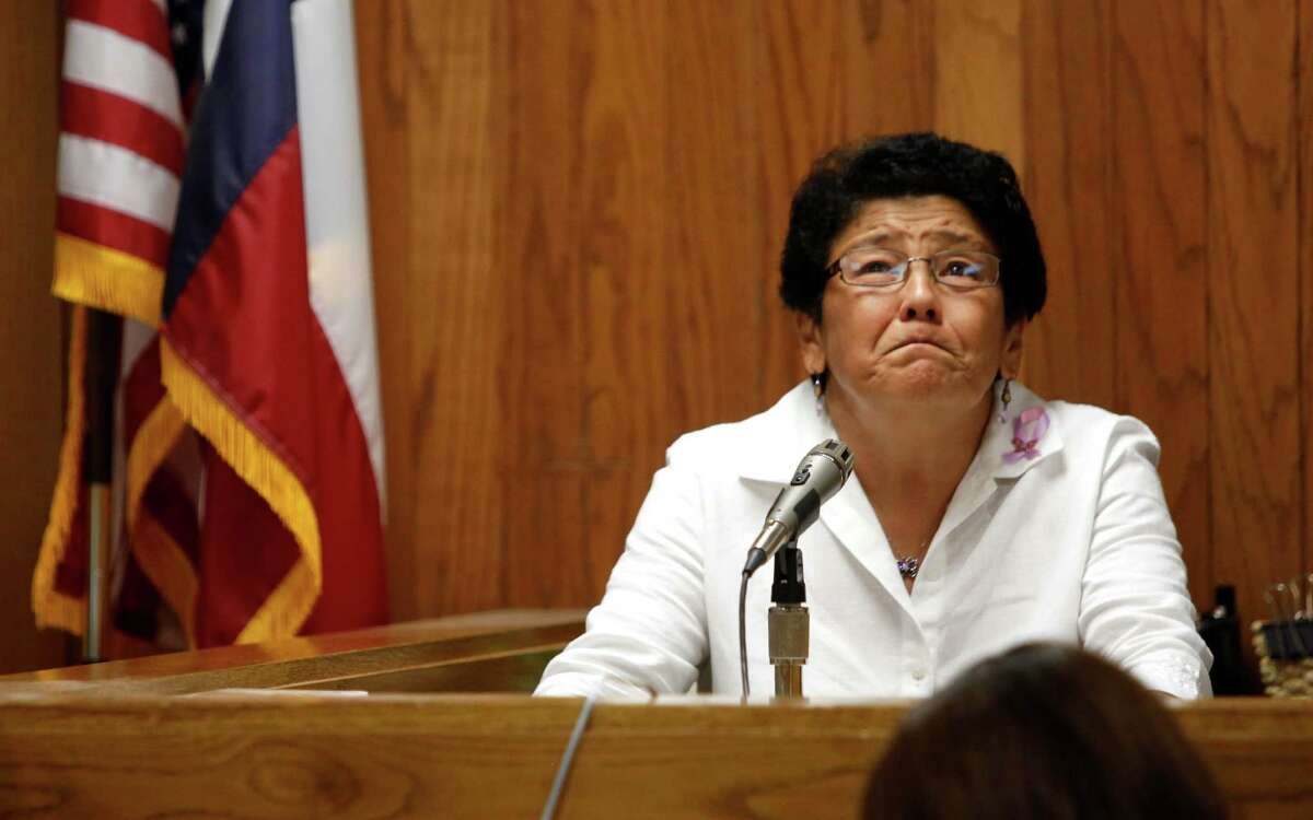 Maria Elys Pitts, mother of capital murder victim Vanessa Marie Pitts, testifies during the trial's punishment phase.