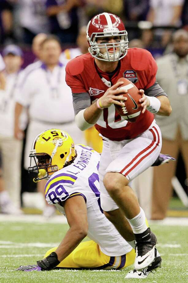 A.J. McCarron is back to lead the Alabama offense after helping the Crimson Tide win the BCS title last season. Photo: Ronald Martinez, Getty Images / 2012 Getty Images
