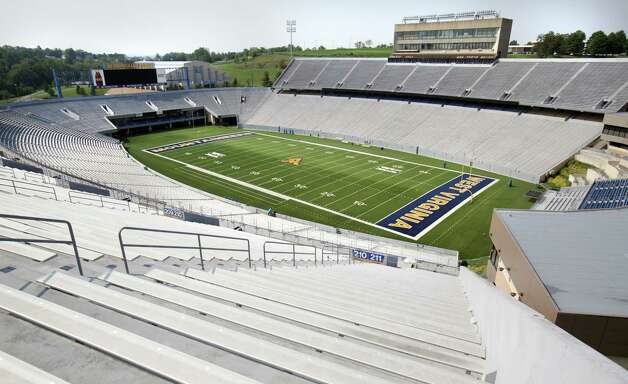 Milan Puskar Stadium at West Virginia University.  The Mountaineers is the newest team to join the Big 12 Conference, in Morgantown, West Virginia.  Thursday, Aug. 9, 2012. Photo: Bob Owen, Express-News / © 2012 San Antonio Express-News