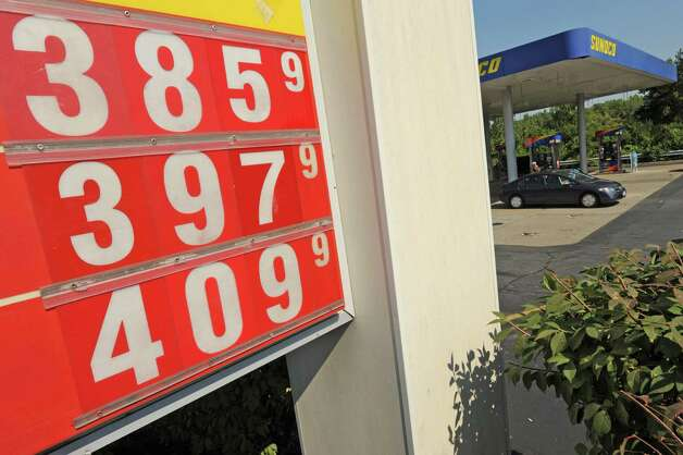 Gasoline prices at a stations on Western Avenue in Albany, NY Thursday Aug. 23, 2012. (Michael P. Farrell/Times Union) Photo: Michael P. Farrell