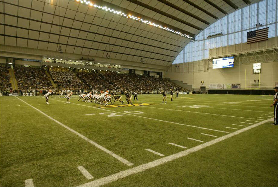 Idaho plays in the 16,000-seat Kibbie Dome in Moscow. It is the smallest stadium in FBS, and has an elevation of 2,610 feet above sea level. Courtesy photo / Idaho Athletics