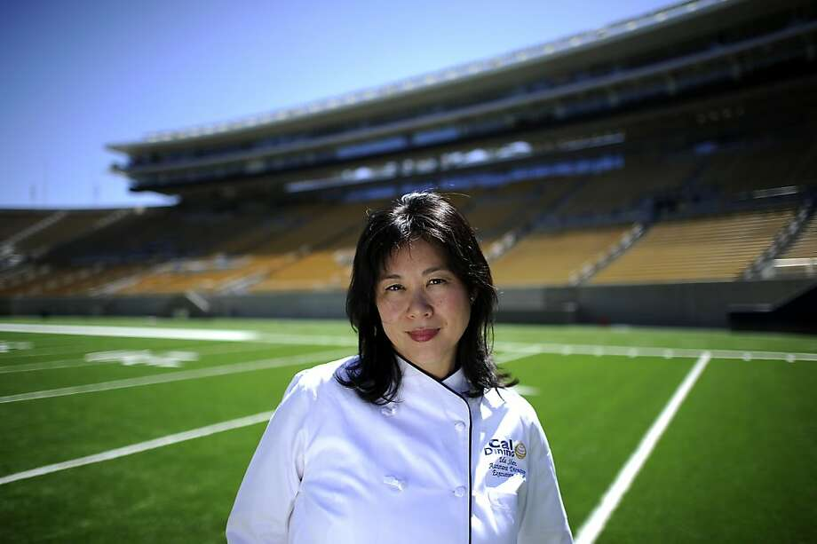 Cal Dining associate director Ida Shen checks out Memorial Stadium, where the company will head up the food service. Photo: Michael Short, Special To The Chronicle