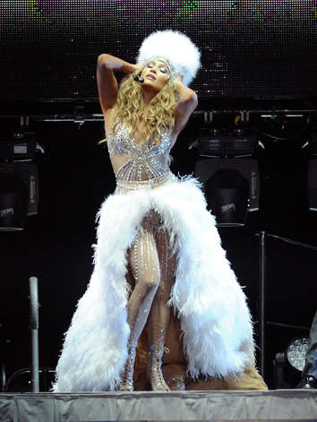 In this photo provided by the Las Vegas News Bureau, Jennifer Lopez performs at Mandalay Bay Events Center in Las Vegas Saturday, Aug. 18, 2012. (AP Photo/Las Vegas News Bureau, Brian Jones) Photo: Brian Jones, Associated Press / Las Vegas News Bureau