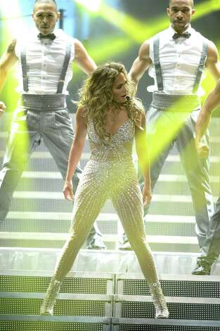 LOS ANGELES, CA - AUGUST 16:  Singer Jennifer Lopez and Atlantico Rum celebrate the Los Angeles show at Staples Center on August 16, 2012 in Los Angeles, California. Photo: Michael Buckner, Getty Images For Atlantico Rum / 2012 Getty Images