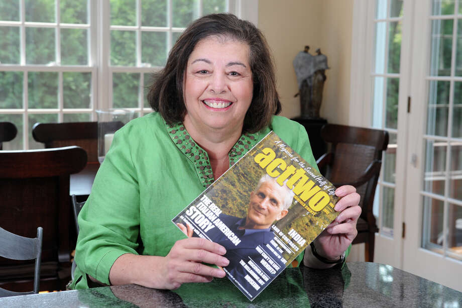 Rosemary Cass, publisher and editor of Act Two Magazine, at home in Fairfield, Conn. Aug. 17th, 2012. Photo: Ned Gerard / Connecticut Post