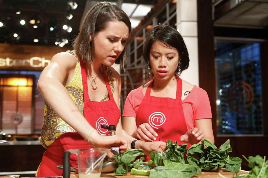 Becky Reams of Kansas and Christine Ha of Houston are in the final four on Masterchef. Photo: Greg Gayne