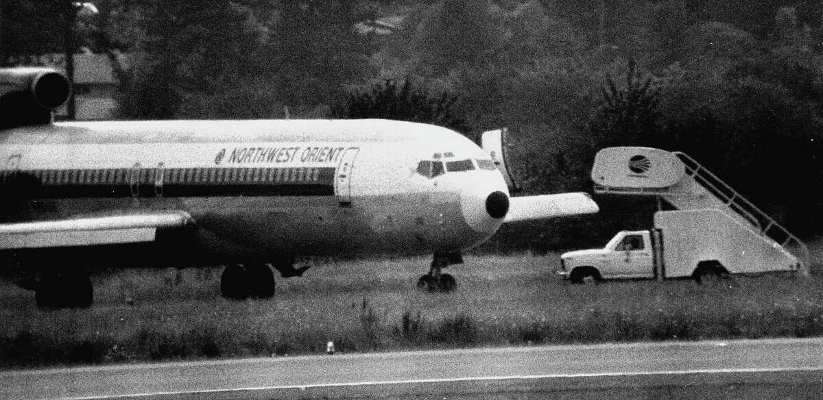 D.B. Cooper hijacked this Boeing 727 on Nov. 24, 1971, in which he took over the plane in the air, demanded money and parachuted away with $200,000. Photo: Barry R. Sweet, ©2012 The Associated Press, published with permission.