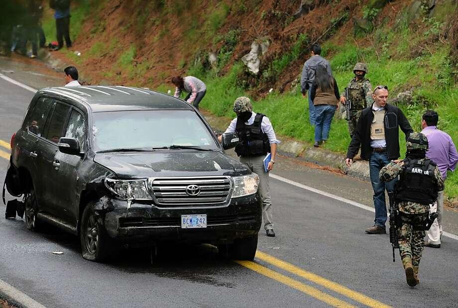 Gunfire opens on U S  Embassy car in Mexico - SFGate
