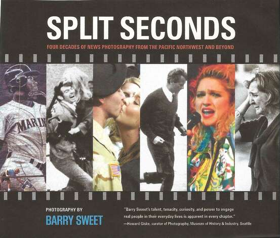 "The cover of ""Split Seconds: Four Decades of News Photography from the Pacific Northwest and Beyond"" by Barry Sweet.  Photo: X"