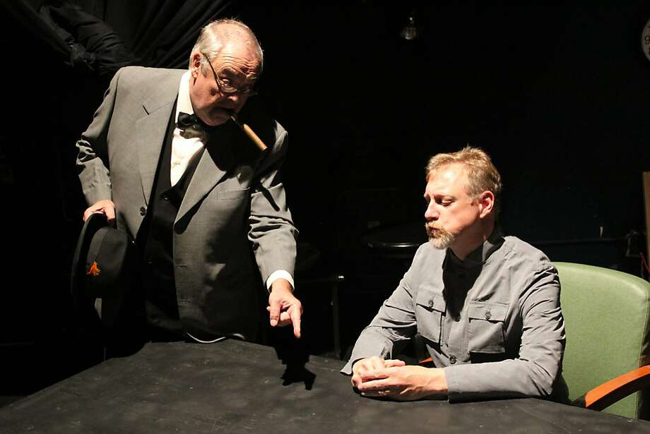 "John Duykers (left) is Winston Churchill, and Scott Graff is Josef Stalin in ""Daughter of the Red Tzar."" Photo: Courtesy First Look Sonoma"