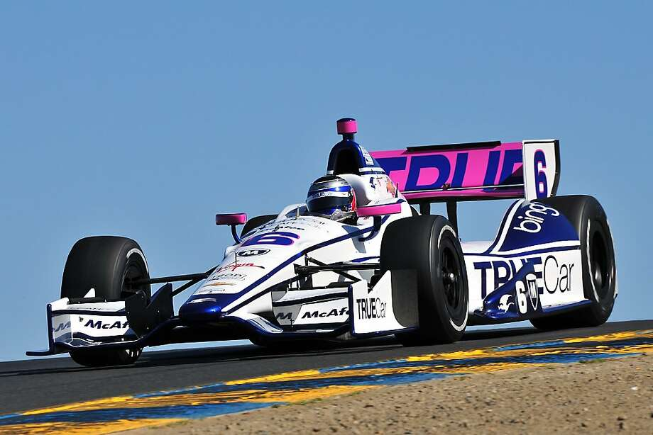 Katherine Legge takes a practice run at Sonoma Raceway ahead of Sunday's Grand Prix. Photo: Nate Jacobson, Sonoma Raceway