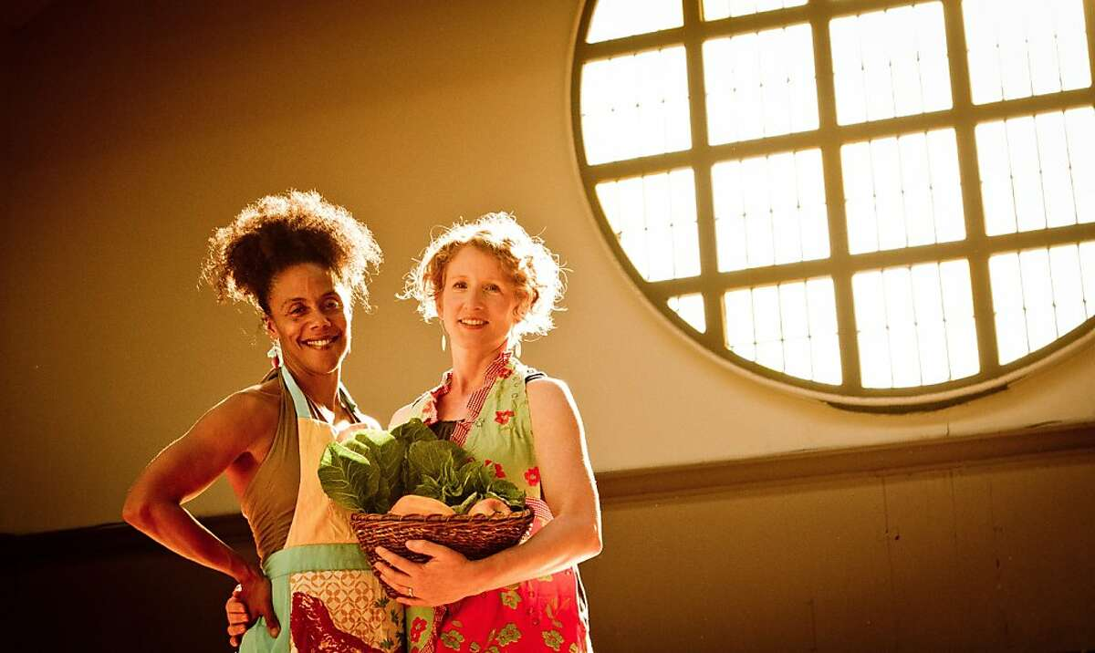 UC Berkeley instructors Amara Tabor-Smith (left) and Lisa Wymore will conduct From the Field to the Table, a five-week workshop using performing arts to explore rituals, culture and memories about food.