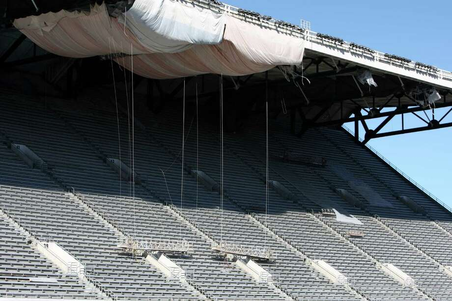 The north grandstand of Husky Stadium is shown during a media tour of the construction site. Photo: JOSHUA TRUJILLO / SEATTLEPI.COM