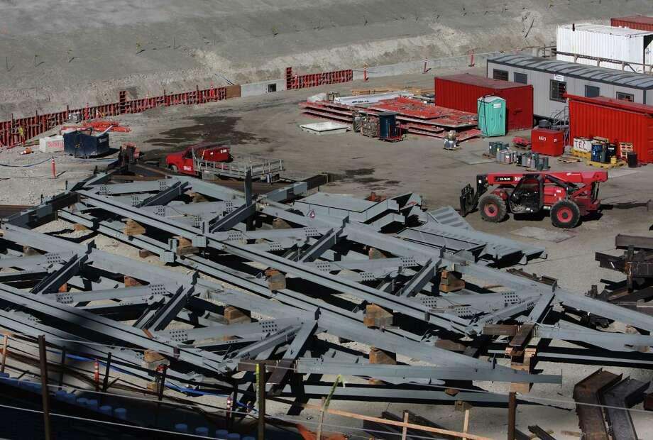 Husky Stadium is shown during a media tour of the construction site. Photo: JOSHUA TRUJILLO / SEATTLEPI.COM